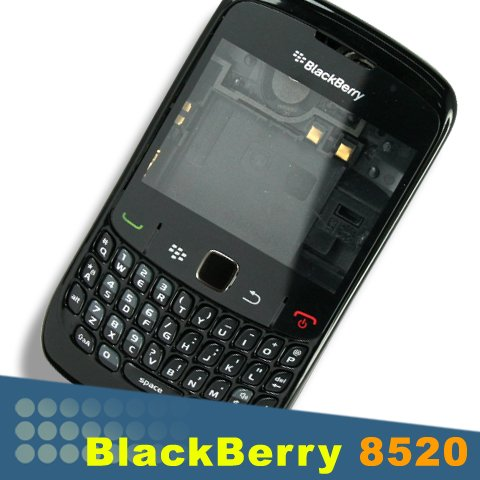 Original Genuine Blackberry Curve 8520 Full Housing Black Lens Keypad Faceplate Trackpad (Blackberry 8520 Full Housing compare prices)