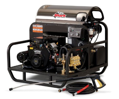 Shark Ssg-503027E/G 3,000 Psi 4.8 Gpm Briggs Vanguard Gas Powered Hot Water Industrial Series Pressure Washer