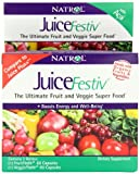 Natrol JuiceFestiv Dietary Supplement Capsules, 60 Count FruitFestiv & 60 Count VeggieFestiv