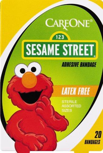 careone-sesame-street-adhesive-bandage-latex-free-20-ct