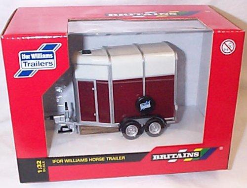 britains ifor williams horse trailer 1.32 scale diecast model