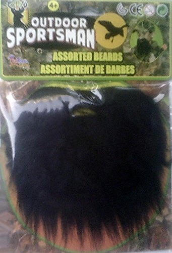 Black Beard on Elastic Band - Child Size - 1
