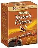 Nescafe Tasters Choice Hazelnut Instant Coffee, 20-Count Single Serve Sticks (Pack of 8)
