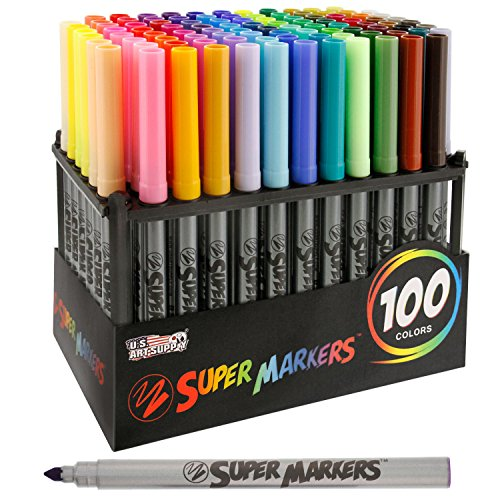 super-markers-set-with-100-unique-marker-colors-universal-bullet-point-tips-for-fine-and-bullet-line