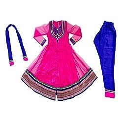 Pintoo Apparels Girls Pink Traditional Chudidar Set for 14-15 Years