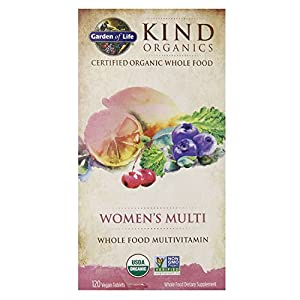 Garden of Life Kind Organics Women's Multivitamin, 120 Organic Tablets