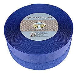 Country Brook Design 2 Inch Royal Blue Sew On Hook and Loop, 5 Yards