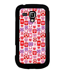 Hearts Pattern 2D Hard Polycarbonate Designer Back Case Cover for Samsung Galaxy S Duos S7562