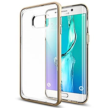 Spigen® [Neo Hybrid Crystal] HYBRIDIZED CLARITY [Champagne Gold] Clear back panel + Dual TPU and PC bumper for Galaxy S6 Edge+ (2015)