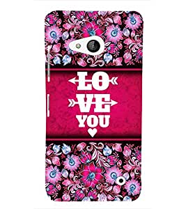 Love You Cute Fashion 3D Hard Polycarbonate Designer Back Case Cover for Microsoft Lumia 550