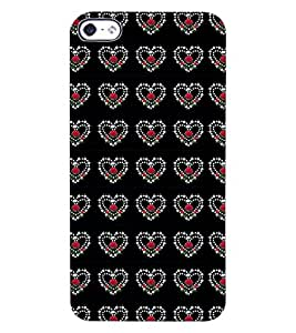ColourCraft Heart Pattern Design Back Case Cover for APPLE IPHONE 4S