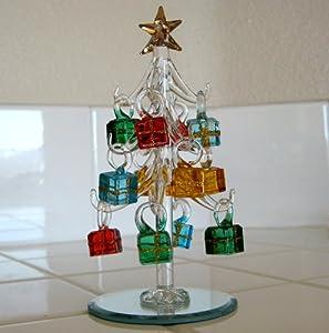 Mini Crystal Christmas Tree With Gift Box Ornaments