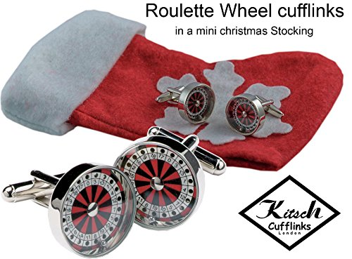 casino-roulette-wheel-cufflinks-with-moving-balls-in-a-mini-christmas-stocking
