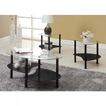 Innovex Cresent Coffee Table, Black