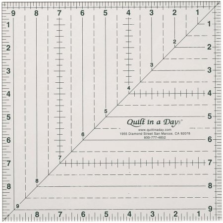 Quilt In A Day Square Up Ruler-9-1/2X9-1/2