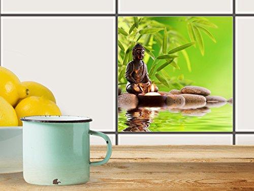 fliesenfolie selbstklebend 20x20 cm 1x1 design buddha zen. Black Bedroom Furniture Sets. Home Design Ideas