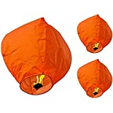 Hot Air Balloon Orange Paper Sky Lantern Pack Of 10