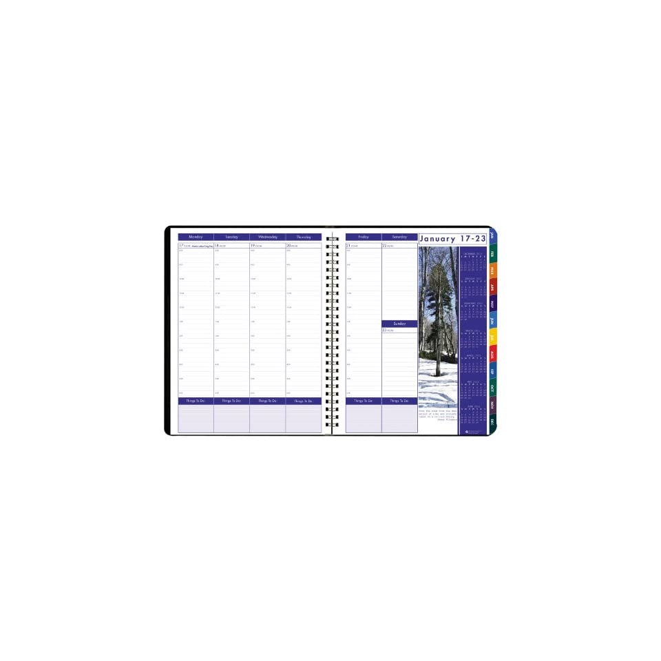 House of Doolittle 273 Earthscapes Weekly/Monthly Planner, 8 1/2 x 11, Black, 2016