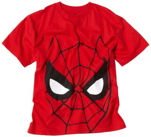 Marvel Big Boys' Spider-Man Face Graphic T-Shirt