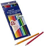 Staedtler 61 SET10 - ergo soft Farbstifte Bonuspack 12 Stück mit Limited Edition Bleistifte Gratis hergestellt von STAEDTLER