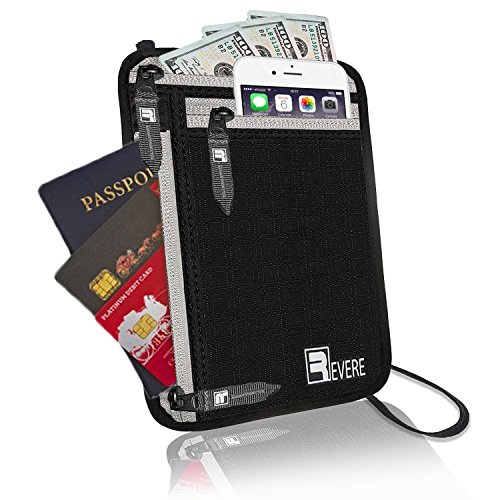 07.Premium RFID Neck Wallet / Passport Holder. Slim, Lightweight & Discreet