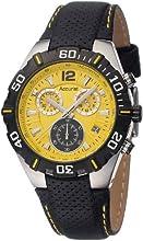 Comprar Accurist MS832Y - Reloj de pulsera cronógrafo para hombres, correa de acero inoxidable, color negro