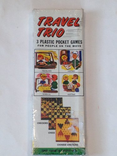 Vintage Travel Trio 3 Plastic Pocket Games - 1