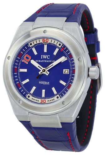 IWC Ingenieur Edition Zinedine Zidane Automatic Blue Dial Steel Mens Watch IW3234-03