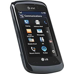 LG Encore GT550 Unlocked GSM Phone with Touchscreen, 3.15MP Camera, Bluetooth and microSD Slot - Black