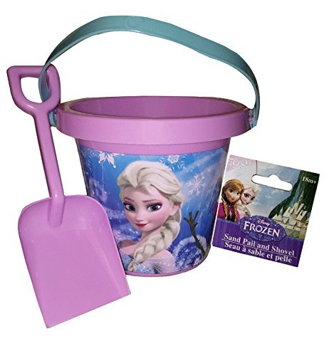 Frozen Summer Outdoor Toys Bundle of 3 - Swim Googles, Water Squirter, Shovel and Pail Set by Disney