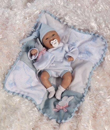 PeaPod Nursery Lil' Boy Blue, 7-Inch Cute Baby Doll (Artist: Laura-Lee Eagles) By Paradise Galleries Dolls