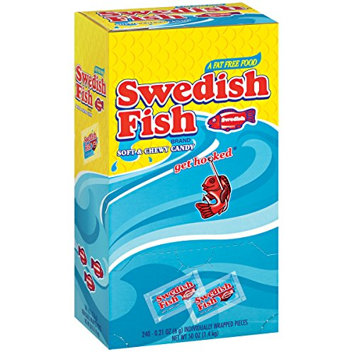 swedish fish 21 oz 240 count individually wrapped