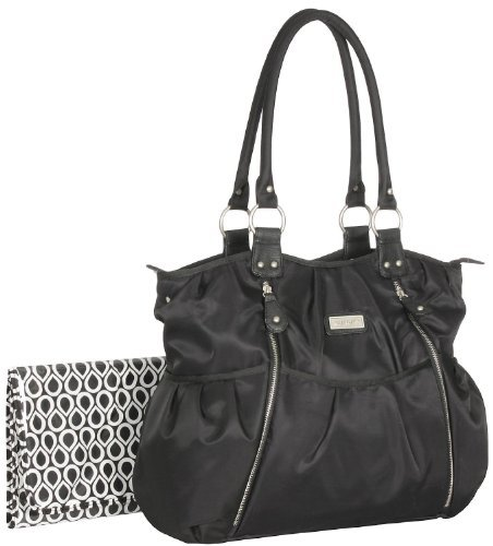 Carter's Carters Zip Front Fashion Tote Diaper Bag (Black) by Carter's