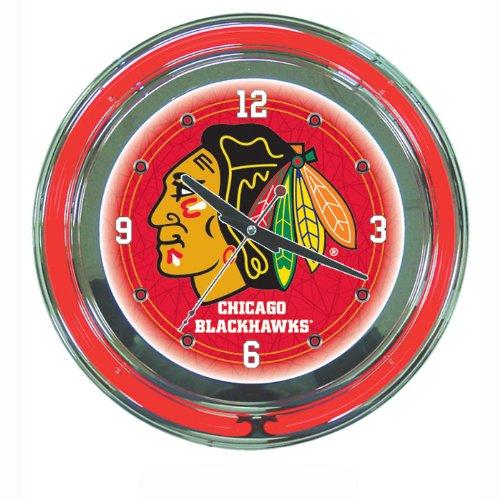 Nhl Chicago Blackhawks 14-Inch Diameter Neon Clock