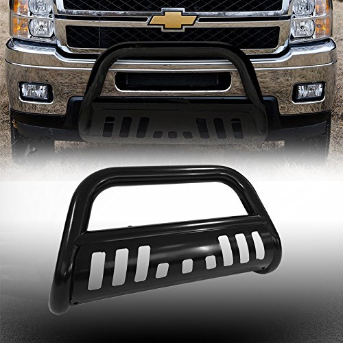 Bull Bar Skid Plate Front Push Bumper Grille Guard Black Steel for 2014-2016 Chevy Silverado 1500 / GMC Sierra 1500 (Bull Guard For Trucks compare prices)