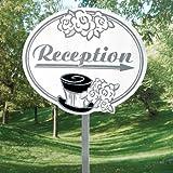 Wedding Reception Yard Sign