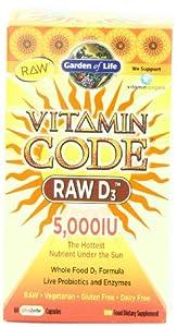 Garden of Life Vitamin Code Raw D3 5,000 IU, 60 Capsules