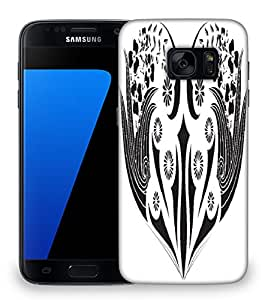 Snoogg floral frame Designer Protective Back Case Cover For Samsung Galaxy S7