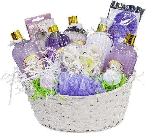 Lavande Lavande Luxueux panier-cadeau Cadeau Spa Basket - Magasins Bio