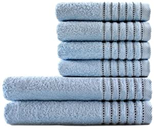 Pure Fiber Dotted Border Bath Towels Set at Sears.com