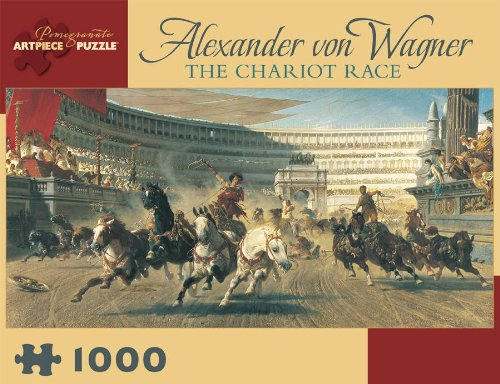 The Chariot Race by Alexander von Wagner Jigsaw Puzzle (Pomegranate Artpiece Puzzle)