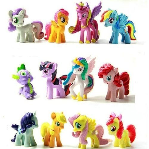 My Little Pony Cake Toppers Dolls PVC Action Figures 5cm. Toys-12pcs.