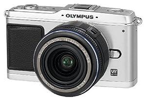 Olympus PEN E-P1 Systemkamera (12 Megapixel, 7,6 cm Display, Bildstabilisator) Kit inkl. 14-42mm Objektiv silber/schwarz
