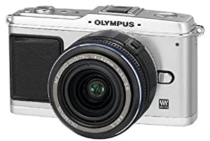 "Olympus PEN E-P1 Kit Compact à objectifs interchangeables 12,3 Mpix Ecran 3"" Objectif 14 42 mm f/5-5.6 Boîtier Argent/Objectif Noir"