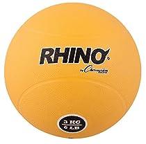 Champion Sports Rubber Medicine Ball, 3 Kilo