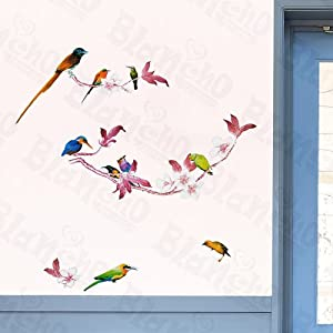 Amazon.com: [Birds Party] Decorative Wall Stickers Appliques ...