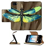 Insect Dragonfly Outdoor Nature Wings Closeup Apple iPhone 5 / 5S Flip Cover Case with Card Holder Customized Made to Order Support Ready Premium Deluxe Pu Leather 5 3/16 inch (132mm) x 2 11/16 inch (68mm) x 9/16 inch (14mm) Liil iPhone 5 Professional Cases Touch Accessories Graphic Covers Designed Model Folio Sleeve HD Template Designed Wallpaper Photo Jacket Wifi 16gb 32gb 64gb Luxury Protector Wireless Cellphone Cell Phone