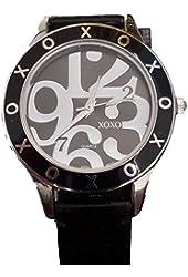 XOXO Women's XO3246 Black Genuine Leather Watch