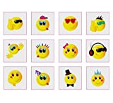 Toy - Smiley Temporary Tattoos Pack of 24 - Great Party Loot Bag Fillers Boys or Girls