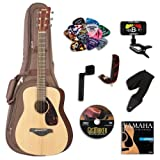 Yamaha JR2 3/4 Size Acoustic Guitar Bundle w/Gig Bag and Legacy Accessory Kit (Tuner, Picks, DVD and Much More)